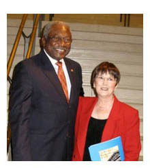 James Clyburn and Alice Bernstein