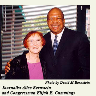 The Hon. Elijan Cummings with Alice Bernstein