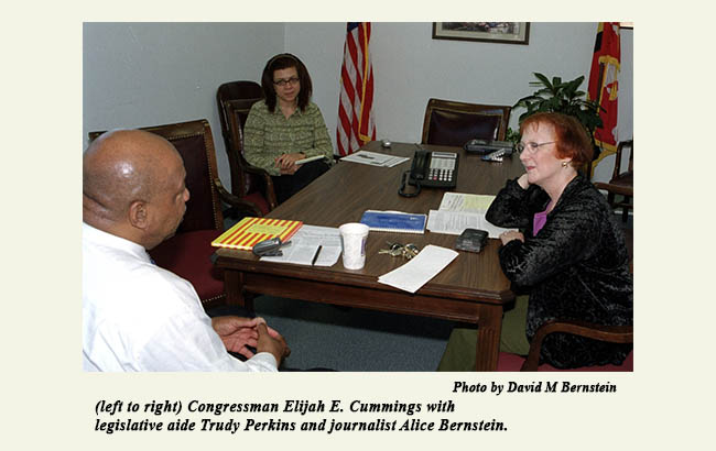 (left to right) Congressman Elijah E. Cummings with