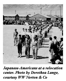 Japanese Americans in internment camp
