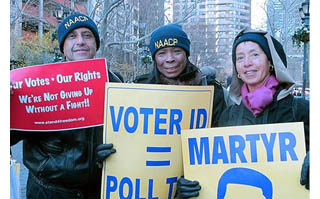 Voting rights protesters NYC